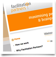 Facilitation Partners - Client editable (CMS) website design by Creative Heights